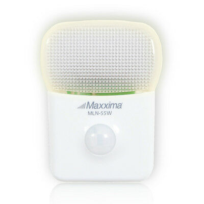 $9.99 • Buy Maxxima MLN-55W LED Motion Activated Sensor Night Light With 5 LEDs Warm White