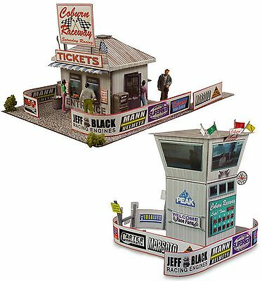 $ CDN23.93 • Buy 1:87 Scale Race Tower/Ticket Gate Entrance Photo Real Building HO Trains Set
