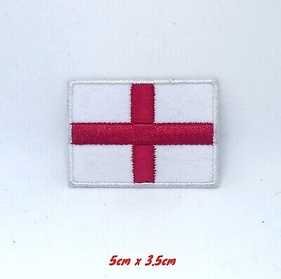 England Flag English St.George Cross Embroidered Iron On Sew On Patch #155 • 1.79£
