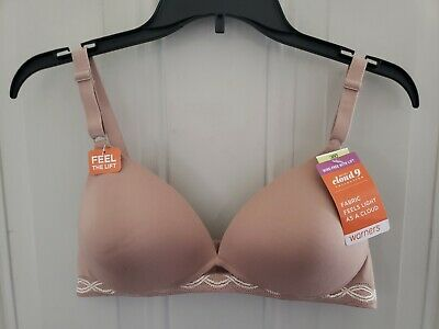 7640195bd98 NWT Warners Bra 38B NUDE Cloud 9 Wire-Free Contour Lift T-shirt 01869