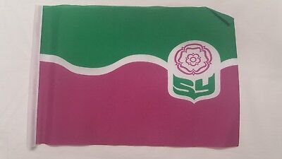 South Yorkshire County Flag Mini Small 9 X6  22cm X 15cm Polyester Sleeved • 2.99£