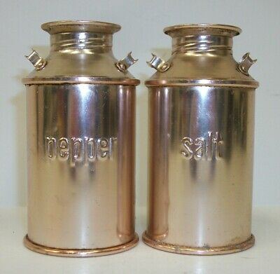 Aluminum Milk Cans Salt Pepper Shaker Set • 9.99$