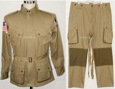 $171.66 • Buy Wwii Us M42 Airborne Jumpsuit Jacket Trousers S-45421