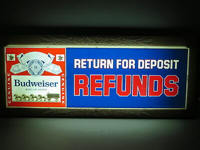 $ CDN429.39 • Buy Vintage 1983 Budweiser Clydesdale Return For Deposit Refunds Lighted Beer Sign