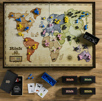 $99 • Buy Winning Solutions Risk 60th Anniversary Deluxe Edition Wooden Board Game