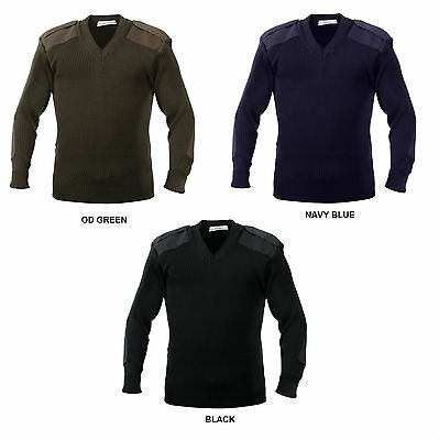 $37.99 • Buy Military Style Sweater V-Neck Pullover Army Navy SEAL Commando USAF Police SWAT