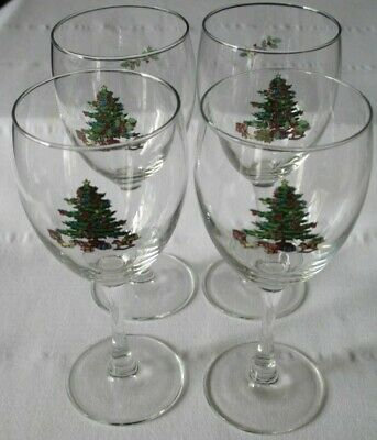 $19.95 • Buy 4 Luminarc Noel Holiday Hostess Christmas Tree Goblet Glass Wine 10oz Stems
