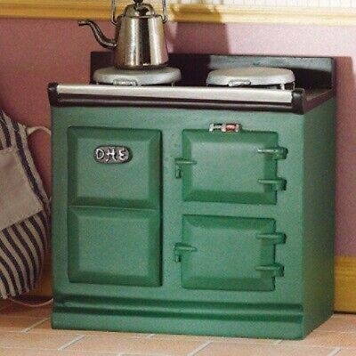 1/12 Scale Dolls House Emporium Small Green Aga-style Stove 2943 • 9.49£