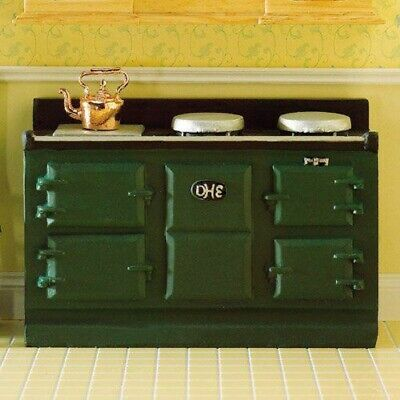 1/12 Scale Dolls House Emporium Large Green Aga-style Stove 2960 • 12.25£
