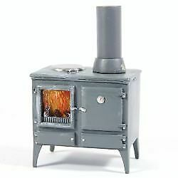 1/12 Scale Dolls House Emporium Wood Burning Kitchen Stove With Chimney 5759 • 9.95£