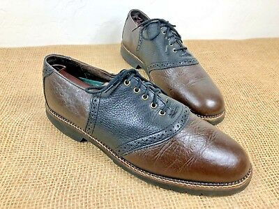61e73450a8c HS Trask Men s Size 9.5 Leather Saddle Oxford Shoes American Made • 18.99
