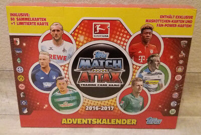Match Attax Weihnachtskalender.Match Attax Adventskalender