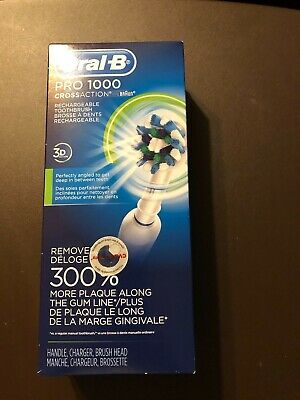 AU95.76 • Buy Braun Oral-B Pro 1000 3d Cross Action Rechargeable Toothbrush RECHARAGEABLE