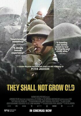$9.99 • Buy They Shall Not Grow Old Movie Poster 27x40 D/S Peter Jackson  World War One Film