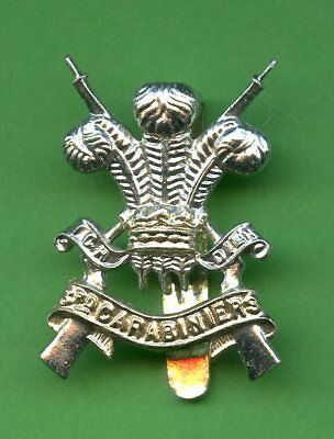 3rd Carabiniers Prince Of Wales Dragoon Guards Anodised  Cap Badge • 12£