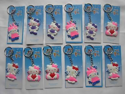 £3.95 • Buy 12 Hello Kitty Keyring Children's Party Loot Present Filler Fitter Gifts Bags,