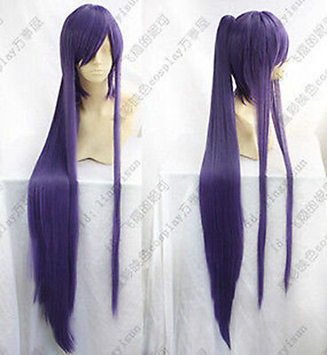 $23.39 • Buy Vocaloid Miku Gakupo Purple Wig Clip On Ponytail Cosplay Party Hair Wig