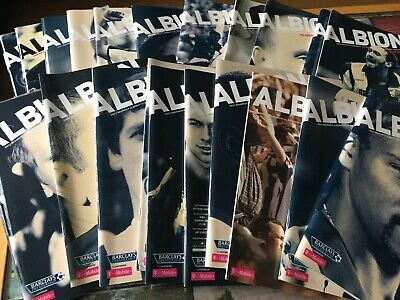 £3.50 • Buy West Brom WBA Home Programmes 2005/06 2006/07 2007/08 2008/09 League & Cup