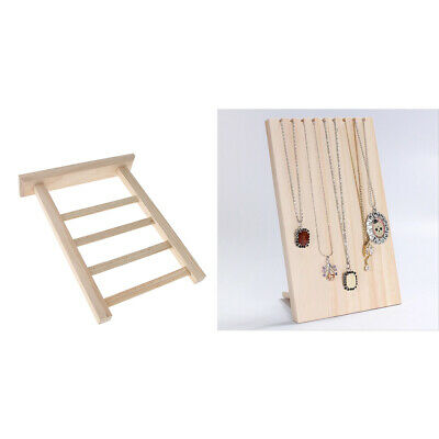 2Pcs Solid Wood Jewelry Stand Necklace Earring Hanging Holder Organizer Rack • 22.68£