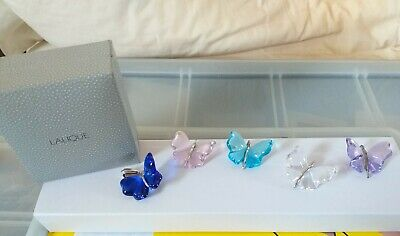 PENDANT  - Lalique Papillon TURQ,PINK,PURPLE,CLEAR , OR BLUE Stunning Butterfly • 149.99£