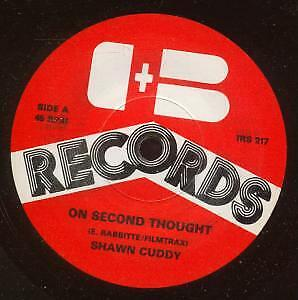 SHAWN CUDDY On Second Thought 7  VINYL UK D+B (Irs017) • 3.14£
