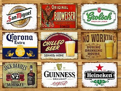 Metal Signs Plaques Vintage Retro Style Beer Bar Corona Mancave Home Wall Decor • 4.99£
