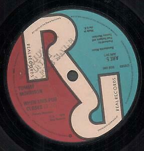 TOMMY MORRISON When This Pub Closes 7 INCH VINYL UK Real 1978 Promo B/W Iron • 5.24£