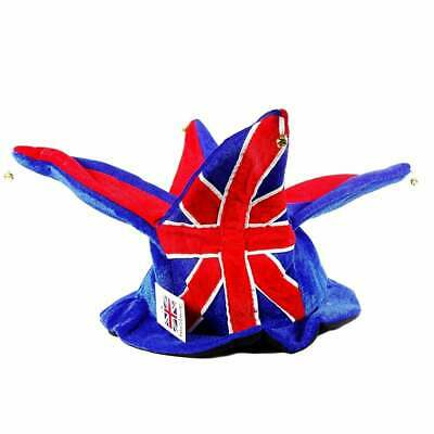 Union Jack Jester Hat - 4 Points With Bells • 11.99£