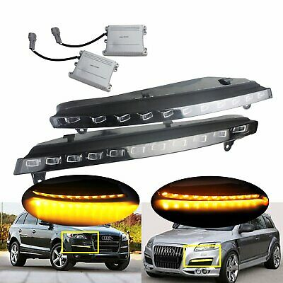 1 Pair Audi Q7 2007-2009 22 LED Daytime Running DRL Fog Turn Signal Light Lamps • 95.98£