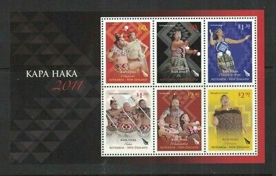 AU18 • Buy 2011 New Zealand Stamps Maori - Kapa Haka SG MS 3265 MUH