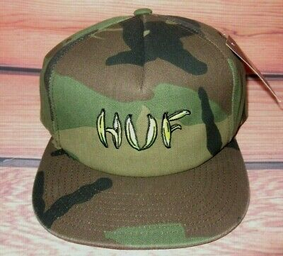 a2aec249cc7901 Mens Huf Camouflage Snapback Cap Adjustable Hat One Size • 24.95$