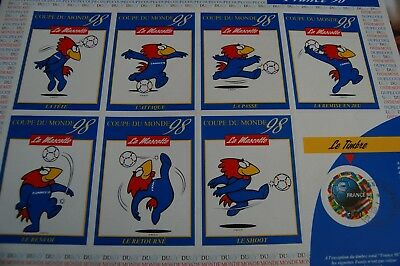£4.99 • Buy 1998 World Cup France  Mascot Footix Stamp/sticker Sheets