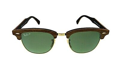 34b3e9409 New Authentic Ray Ban Clubmaster Wood Polarized Sunglasses RB3016M 118158 •  235.99$