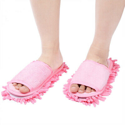 Microfibre Duster Shoe Sock Slippers Mop Dust Remover Cleaning Floor Polishers • 5.99£
