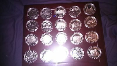 Liverpool 800th Anniversary Silver Coin Set - Total 20 Coins Plus COA's • 525£