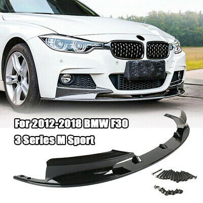 AU126 • Buy Front Bumper Lower Lip For 2012-2018 BMW F30 3 Series M Style  2013 2014 2015