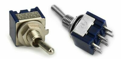 Pair MTS-202 Mini Toggle Switch DPDT 6-Pin ON/ON 6A 125V 2 Position • 2.79£