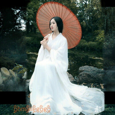 $ CDN58.08 • Buy Women's Dress White Hanfu Ancient Costume Han Chinese Dress Tang Dynasty Cosplay