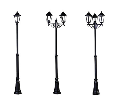 2.5m Victorian Outside Garden Patio Pathway Street Light Lamp Post Black Lights • 84.95£