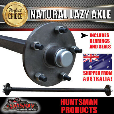 AU180 • Buy LAZY 5 STUD TRAILER AXLE 40MM SQUARE COMPLETE. 60-79  1000KG Camper/caravan Part