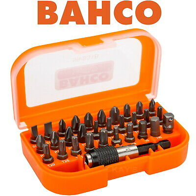£11.95 • Buy BAHCO 31 Piece Screwdriver Drive Bits Set With Case PH, Pozi, Torx, Slotted S31B