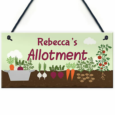 PERSONALISED Allotment Sign ANY NAME Garden Signs And Plaques Shed Sign Gifts • 6.99£