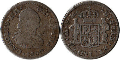 $ CDN48.52 • Buy 1800 Mexico (Spanish) 1/2 Real Silver Coin Charles IIII KM#72