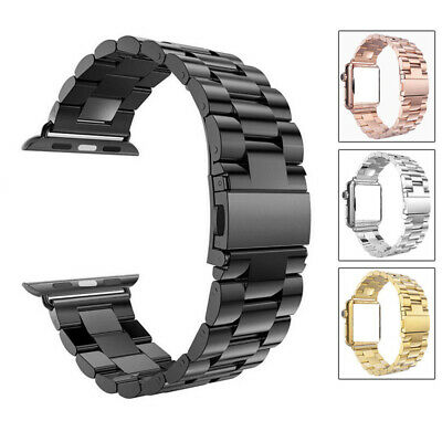 $ CDN19.09 • Buy For IWatch Apple Watch Series 3 2 1 42mm Stainless Steel Wrist Band Strap Black