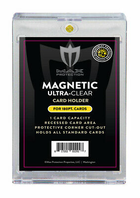 $10.84 • Buy 5 - MAX PRO 180PT UV Ultra One Touch Magnetic Holder For THICK Or Jersey Cards