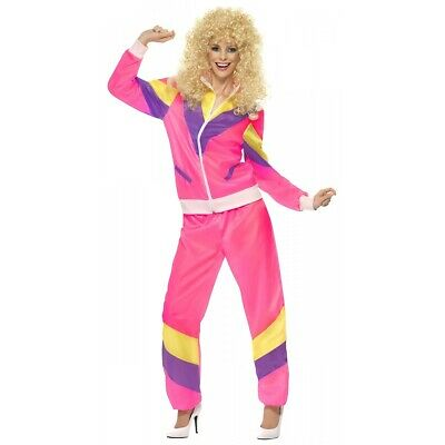 AU40.35 • Buy 80s Costume Adult Neon Tracksuit Funny Outfit Halloween Fancy Dress