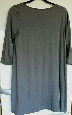 £26 • Buy Yong Kim Soft Modal Godet Back Tunic With 3/4  Length Sleeves Coffee 10 New