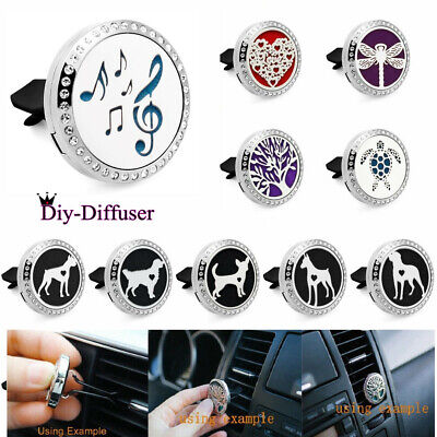 AU3.60 • Buy Stainless Perfume Aromatherapy Essential Oil Diffuser Locket Clip For Car Office