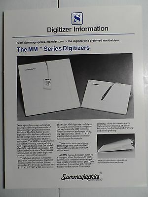 $ CDN10.59 • Buy 1982 Summagraphics Advertising Folder Early CAD Digitizers 4 Pgs B&W NICE!