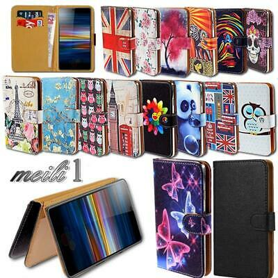 Leather Stand Wallet Cover Case For Sony Xperia 1 / 10 / 10+/ L3 SmartPhones • 3.99£